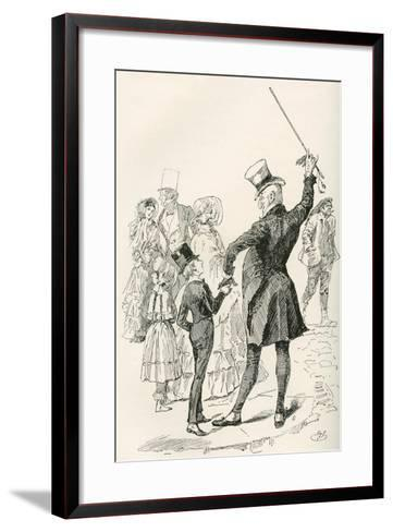 Mr. Micawber Takes David Home.  We Walked to Our House Together--Framed Art Print