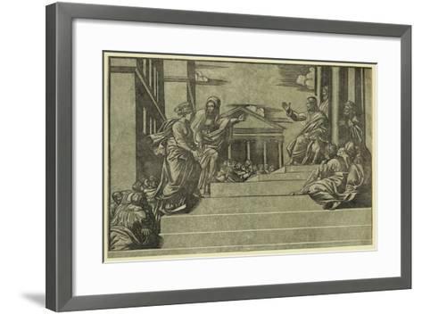 Martha and Mary Magdalene before Christ--Framed Art Print
