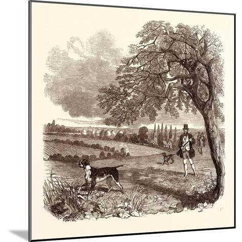 Partridge Shooting in September. Shotgun--Mounted Giclee Print