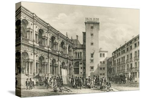 Piazza Delle Erbe in Vicenza--Stretched Canvas Print
