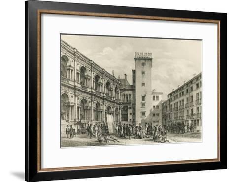 Piazza Delle Erbe in Vicenza--Framed Art Print