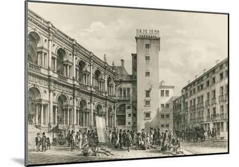 Piazza Delle Erbe in Vicenza--Mounted Giclee Print