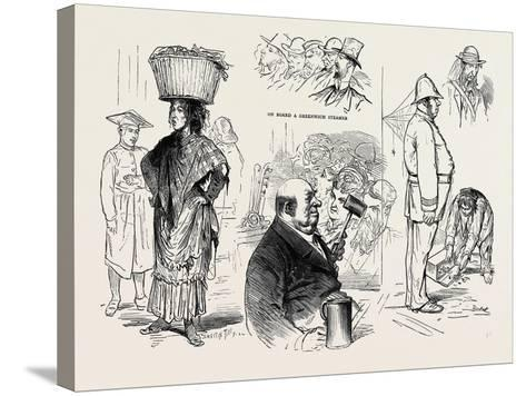 Pictures of London by a French Artist: Chairman of a Musical Meeting -Ten Pints an Hour--Stretched Canvas Print