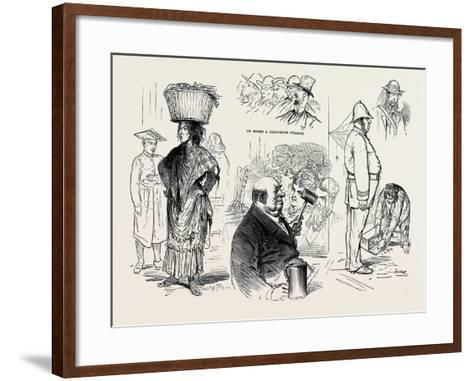 Pictures of London by a French Artist: Chairman of a Musical Meeting -Ten Pints an Hour--Framed Art Print