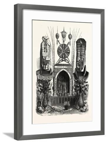 Palace of Industry. Gallery Annex. Products of Algeria. 1. Ostrich Eggs--Framed Art Print