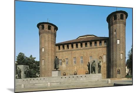 Palazzo Madama and Monument to Emanuele Filiberto Duca D'Aosta--Mounted Photographic Print