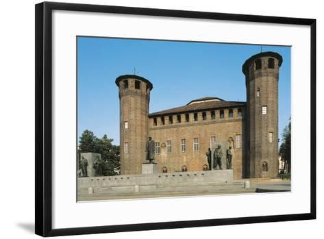 Palazzo Madama and Monument to Emanuele Filiberto Duca D'Aosta--Framed Art Print