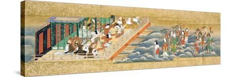 One of Three Miniature Handscrolls Depicting the Story of Taishokkan (The Great Woven Cap)--Stretched Canvas Print