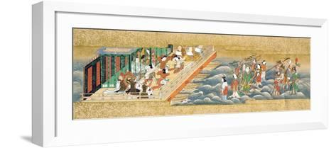 One of Three Miniature Handscrolls Depicting the Story of Taishokkan (The Great Woven Cap)--Framed Art Print