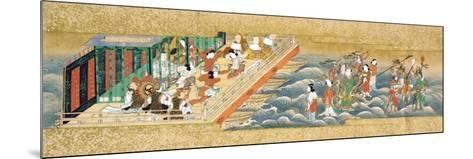 One of Three Miniature Handscrolls Depicting the Story of Taishokkan (The Great Woven Cap)--Mounted Giclee Print
