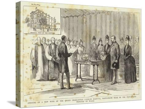 Opening of a New Wing of the Queen Charlotte's Lying-In Hospital--Stretched Canvas Print