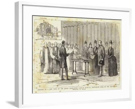 Opening of a New Wing of the Queen Charlotte's Lying-In Hospital--Framed Art Print