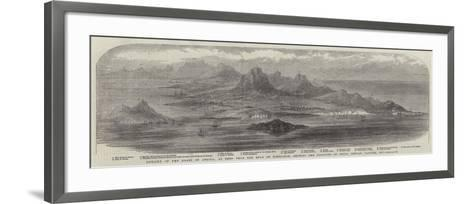 Outline of the Coast of Africa--Framed Art Print