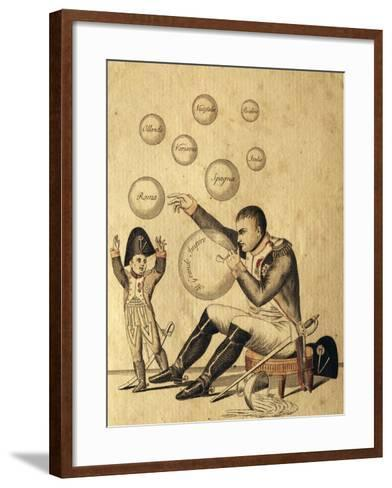 Oh Dad How Many Beautiful Bubbles You Have Made--Framed Art Print