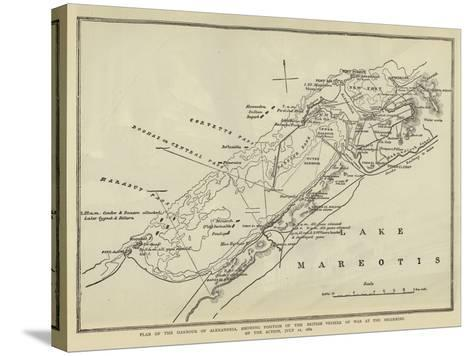 Plan of the Harbour of Alexandria--Stretched Canvas Print