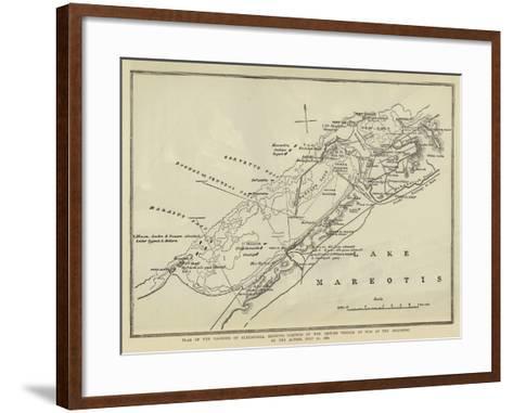 Plan of the Harbour of Alexandria--Framed Art Print