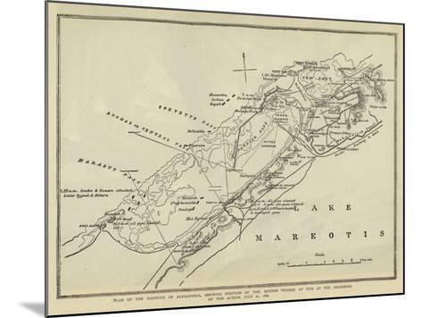 Plan of the Harbour of Alexandria--Mounted Giclee Print