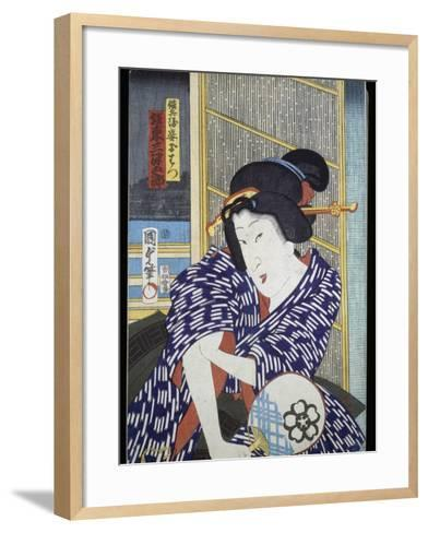 Portrait of Actress with Fan--Framed Art Print