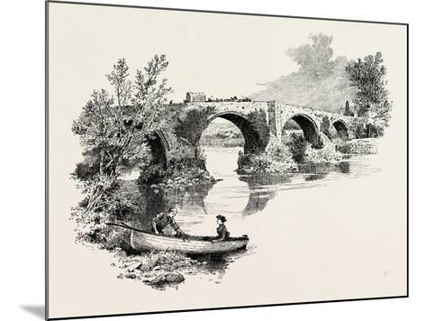 Old Bridge of Forth--Mounted Giclee Print