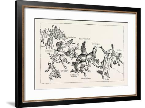 Parliamentary Elections and Electioneering in the Old Days: J. Doyle: Leap-Frog Down Constitution H--Framed Art Print