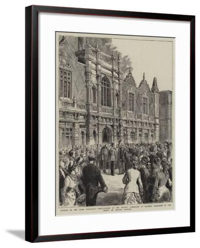 Opening of the Paris Exhibition--Framed Art Print