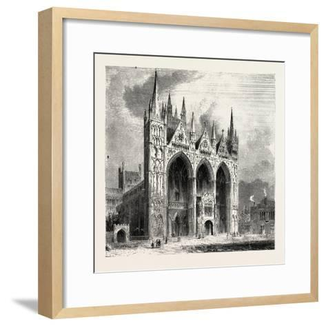 Peterborough Cathedral--Framed Art Print
