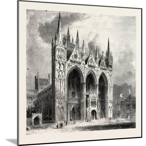 Peterborough Cathedral--Mounted Giclee Print