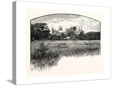Peterborough Cathedral--Stretched Canvas Print