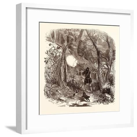 Pheasant Shooting in October--Framed Art Print