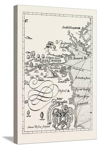 Part of Captain J. Smith's Map of New England. from Advertisements for the Unexperienced Planters o--Stretched Canvas Print
