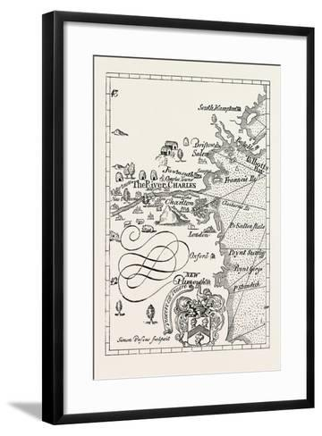 Part of Captain J. Smith's Map of New England. from Advertisements for the Unexperienced Planters o--Framed Art Print