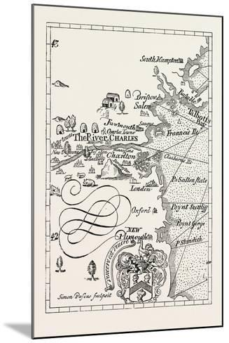 Part of Captain J. Smith's Map of New England. from Advertisements for the Unexperienced Planters o--Mounted Giclee Print