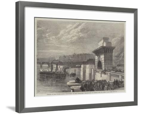 Opening of the Thames North Embankment to Foot Passengers--Framed Art Print