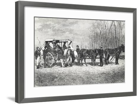 Prairie Stagecoach--Framed Art Print