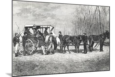 Prairie Stagecoach--Mounted Giclee Print