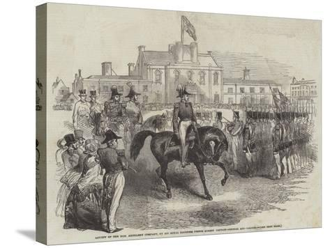 Review of the Honourable Artillery Company--Stretched Canvas Print
