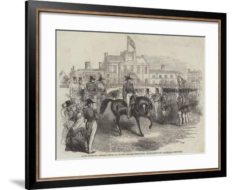 Review of the Honourable Artillery Company--Framed Art Print
