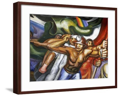 Procession of Men and Women--Framed Art Print