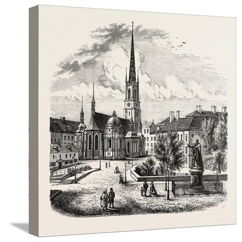 Riddarholm Church. the Riddarholmen Church--Stretched Canvas Print