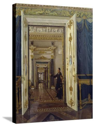 Rooms of Maria Feodorovna in Winter Palace in St Petersburg--Stretched Canvas Print