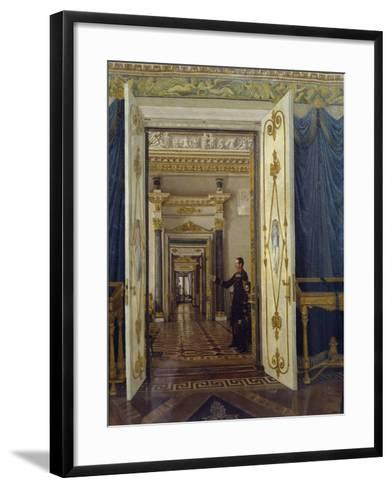 Rooms of Maria Feodorovna in Winter Palace in St Petersburg--Framed Art Print