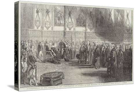 Presentation of the Address of the Corporation of London to Her Majesty--Stretched Canvas Print