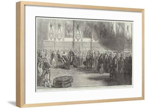 Presentation of the Address of the Corporation of London to Her Majesty--Framed Art Print