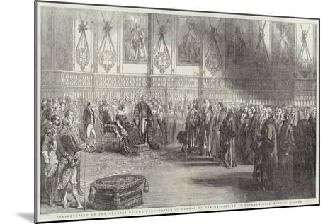 Presentation of the Address of the Corporation of London to Her Majesty--Mounted Giclee Print