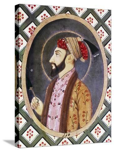 Portrait of Mughal Emperor Aurangzeb known as Alamgir I (1618-1707)--Stretched Canvas Print