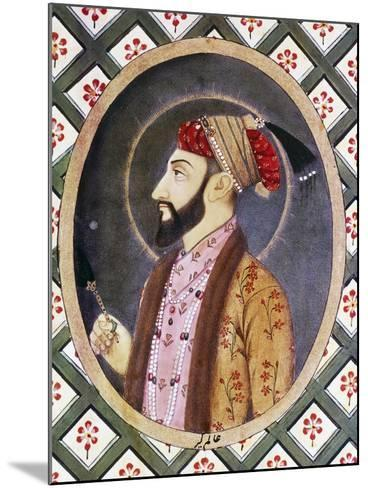 Portrait of Mughal Emperor Aurangzeb known as Alamgir I (1618-1707)--Mounted Giclee Print