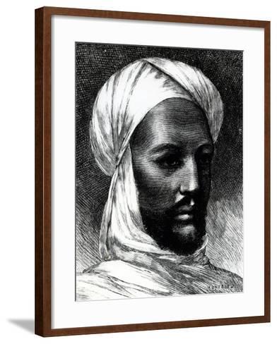 Portrait of Muhammad Ahmad (1844-1885)--Framed Art Print