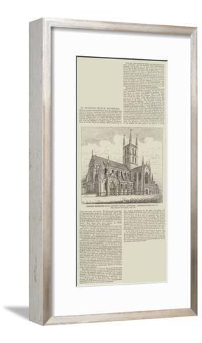 Proposed Restoration in St Saviour's Church--Framed Art Print