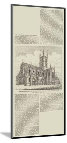 Proposed Restoration in St Saviour's Church--Mounted Giclee Print