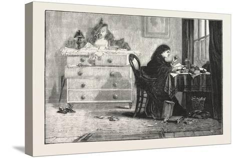 Reading for a Degree. 1876--Stretched Canvas Print